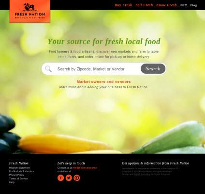 Fresh Nation website