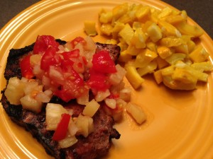 Marinated Chops with Pineapple Salsa